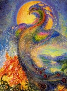 "Blank Card ""The Phoenix"" Blank Greetings Card by Josephine Wall"